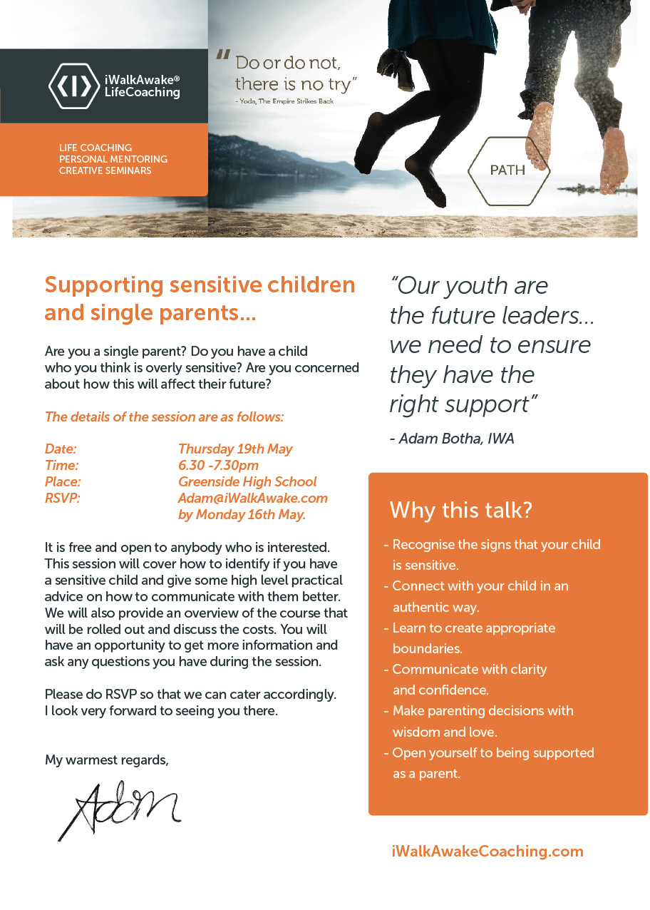 Sensitive Ones (single parents forum) Invite