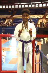 Mohammed Ridwaan Kai and Musheera Kai competed in the Gauteng JKA Karate Championship, which took place in March 2017, at the Standard Bank Arena. We are very pleased to announce that Mohammed Ridwaan Kai has yet again achieved Gauteng Colors for 2017. He went on to win 2 gold medals for both Kata and Kumite in the Boys U/15 division, and has been selected to represent Gauteng in the JKA National Karate Tournament to be held in May later this year. He has been unbeaten in his past five competitions, winning gold in both Kata & Kumite over the last 5 years. We are extremely proud of his achievements and look forward to hearing of his successes at the JKA National Championships in a few weeks' time!